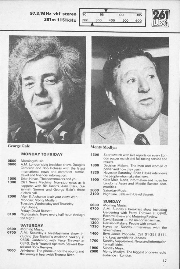 Early LBC Presenters