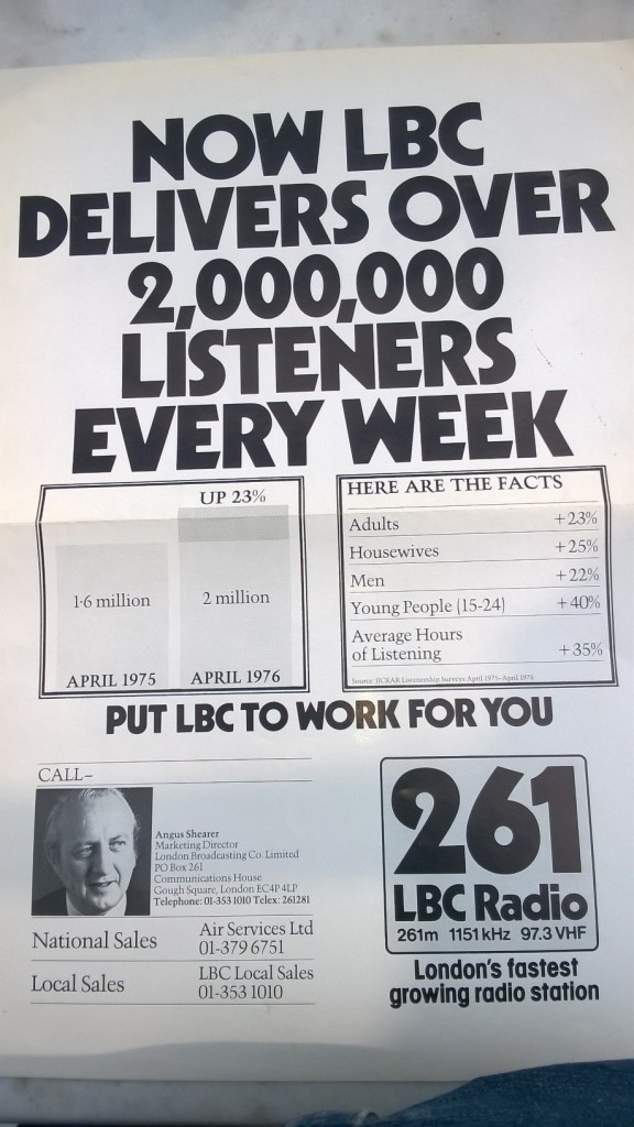 2 mill listeners for LBC 77